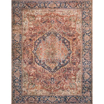 "7'6""x9'6"" Layla Rug Red/Navy - Loloi Rugs"