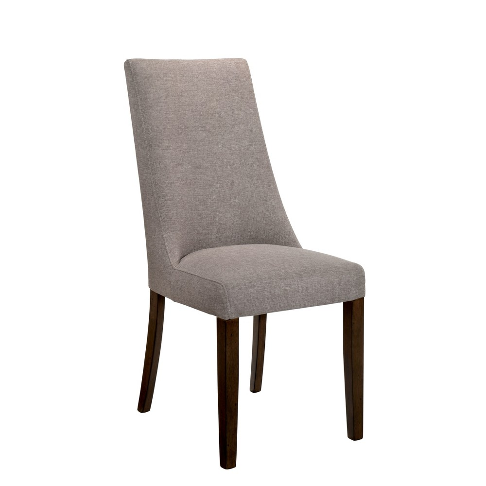 Kelley Upholstered Dining Side Chair Set of 2 Walnut (Brown) - Sun & Pine