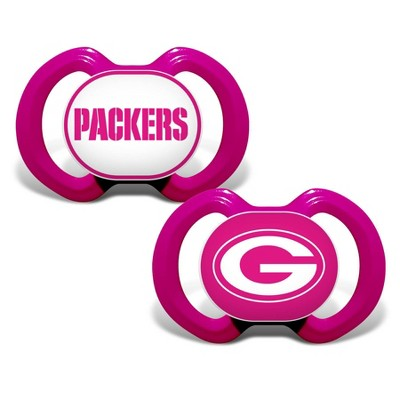 NFL Green Bay Packers Pink Pacifiers 2pk
