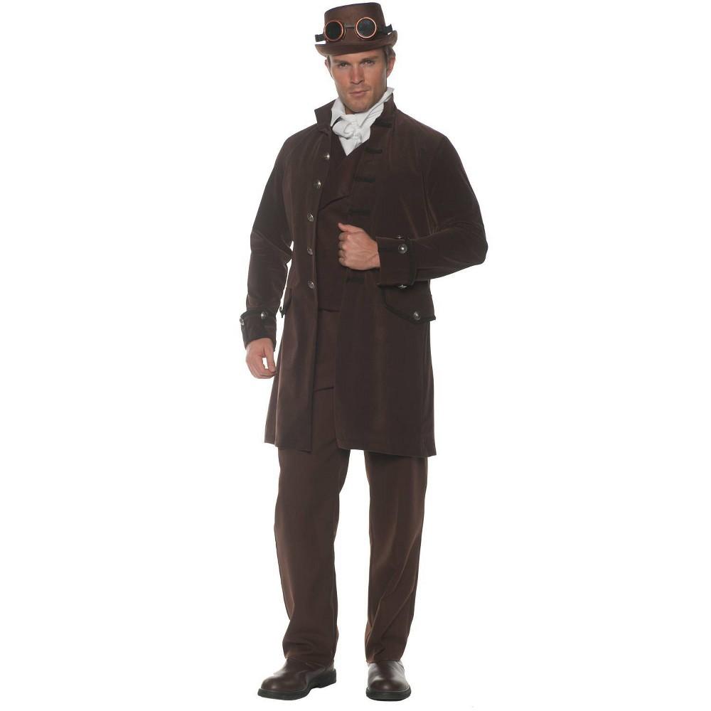 50 Men's Vintage Halloween Costume Ideas Halloween Adult Frock Coat Brown Halloween Costume One Size $39.99 AT vintagedancer.com