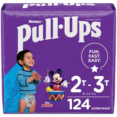 Huggies Pull-Ups Boys' Learning Design Ecomm Pack Disposable Training Pants - 2T-3T - 124ct