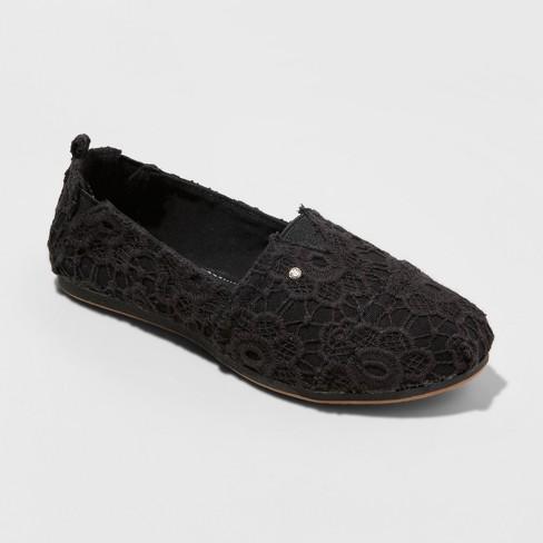 c67b3dcb77dc Women s Mad Love Lydia Wide Width Slip On Canvas Sneakers - Vintage Black  5W   Target
