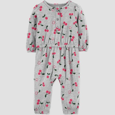 Baby Girls' Cherry Romper - Just One You® made by carter's Gray 3M