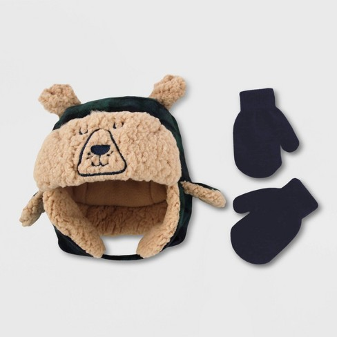 Baby Boys' Hat And Glove Set - Cat & Jack™ Blissful Moss 12-24M - image 1 of 4