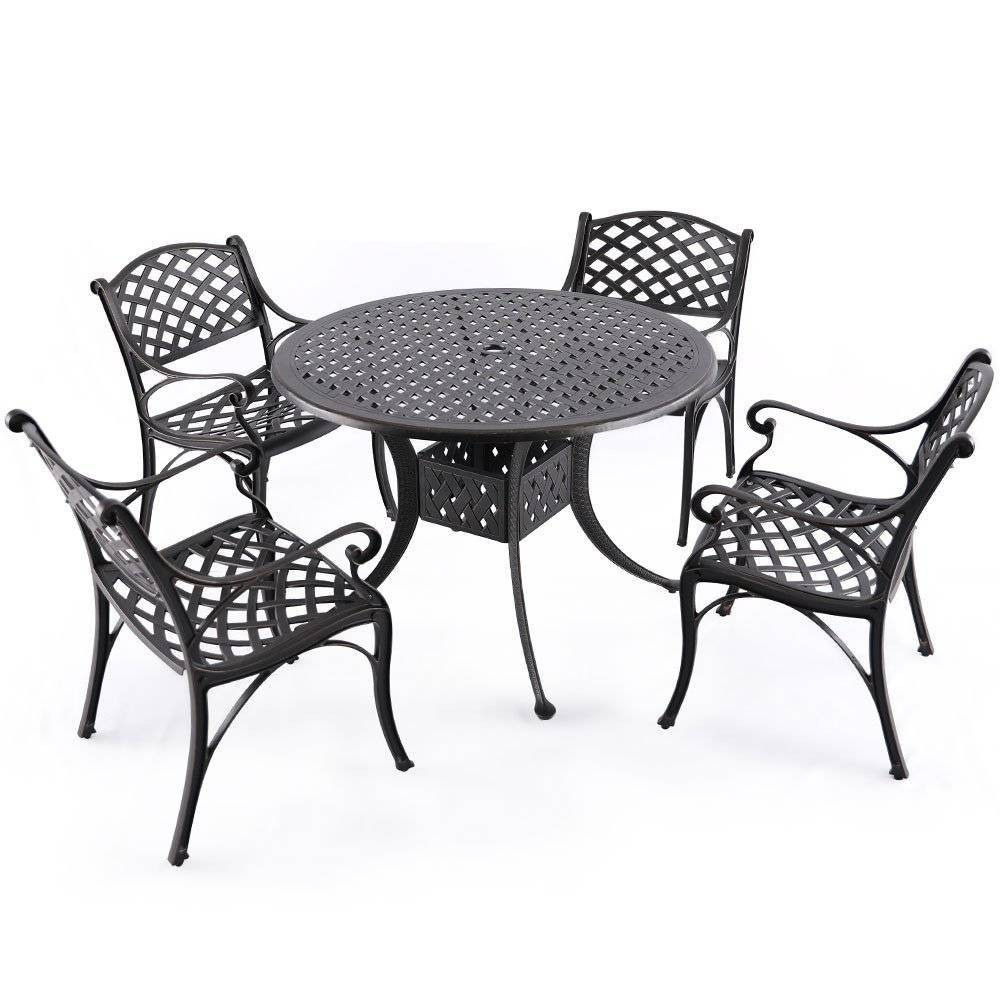 Image of 5pc Cast Aluminum Outdoor Dining Set - Nuu Garden