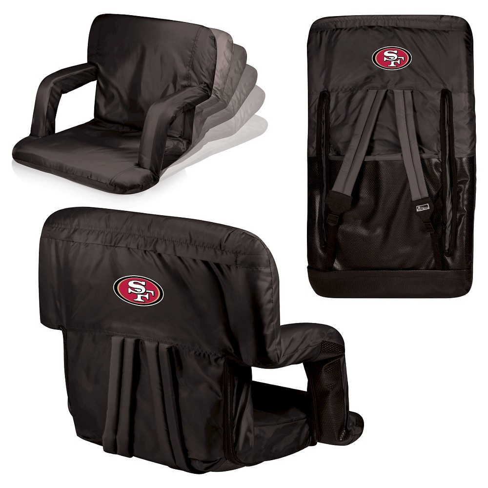 San Francisco 49ers Ventura Seat Portable Recliner Chair By Picnic Time
