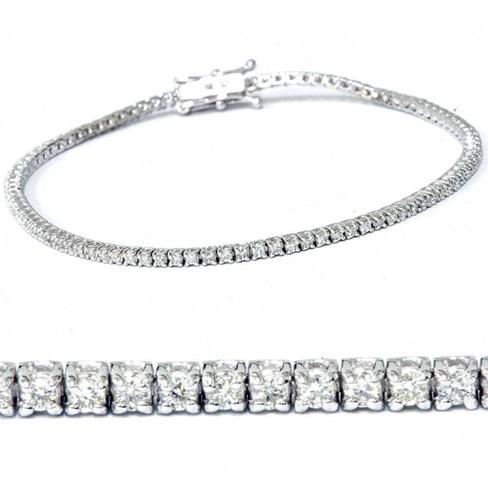 """Pompeii3 2ct Diamond Tennis Bracelet 14K White Gold 7"""" - image 1 of 4"""