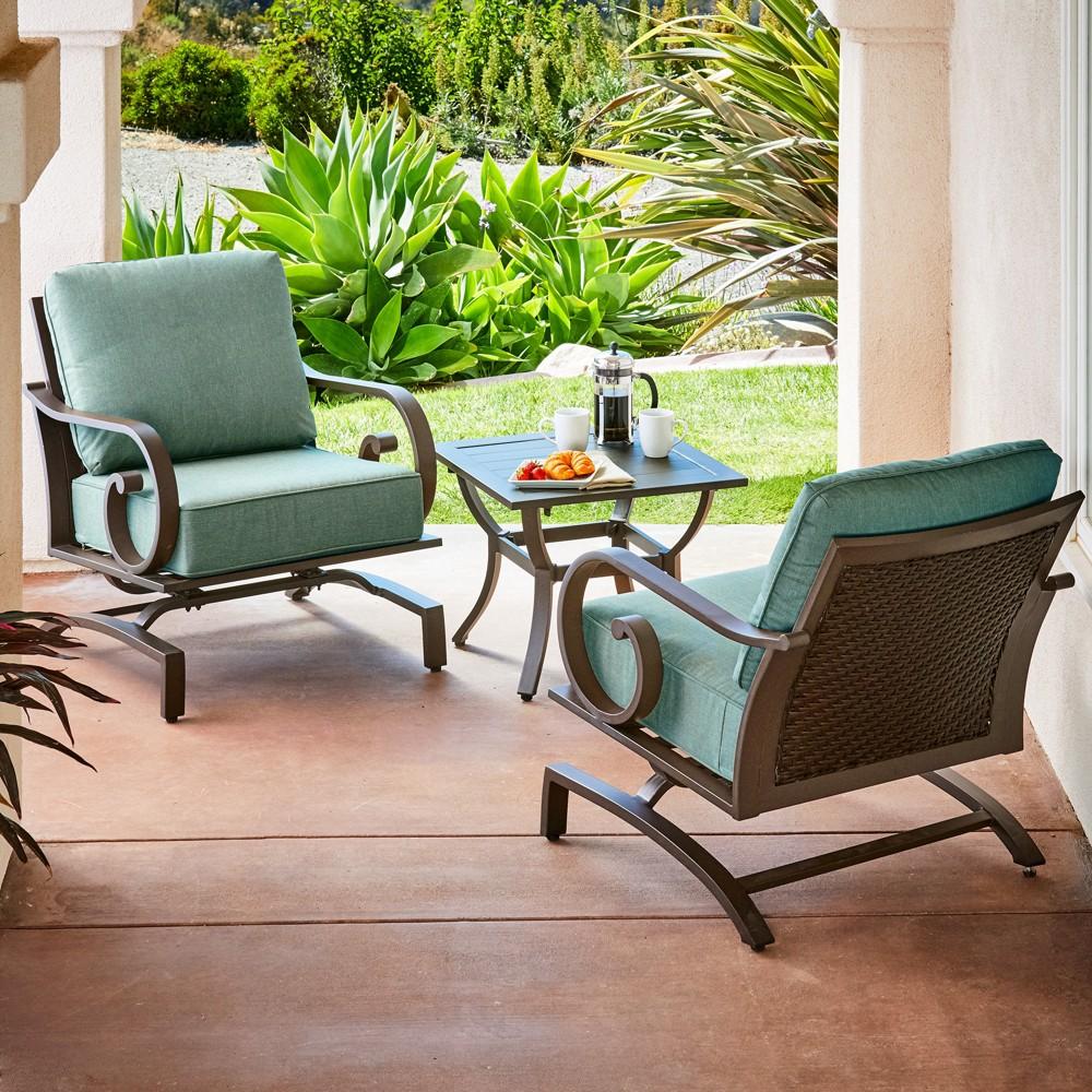 Image of 3pc Milano Seating Set Teal - Royal Garden, Blue