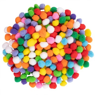 Ready 2 Learn Pom Poms - Set of 240 - Assorted Colors - Art Supplies for DIY Crafts and Hobbies - 1 in. wide