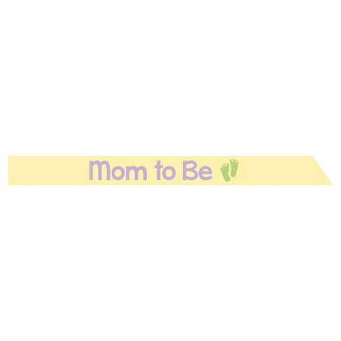 Satin Mom to Be Sash, each - image 1 of 1