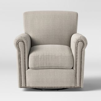 Meadowood Swivel Arm Chair Cream - Threshold™