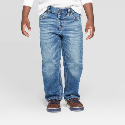Toddler Boys' Fixed Waist Straight Jeans - Cat & Jack™ Denim Blue 12M
