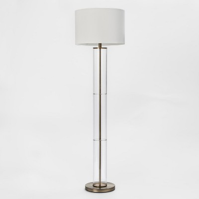 Clear Column Floor Lamp (Lamp Only)Brass - Project 62™