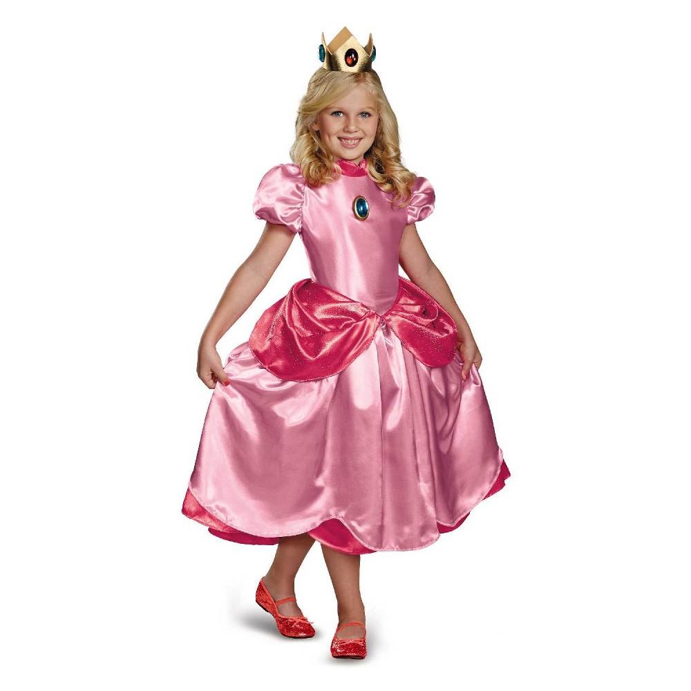 Girls' Super Mario Brothers Princess Peach Halloween Costume S, Pink