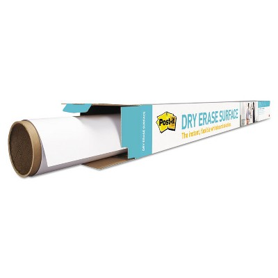 Post-it Dry Erase Surface with Adhesive Backing 72 x 48 White DEF6X4