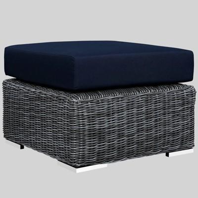 Summon Outdoor Patio Ottoman with Sunbrella Fabric - Modway