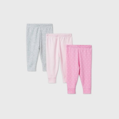 Baby Girls' 3pk Unicorn Adventure Pull-On Pants - Cloud Island™ Pink 0-3M