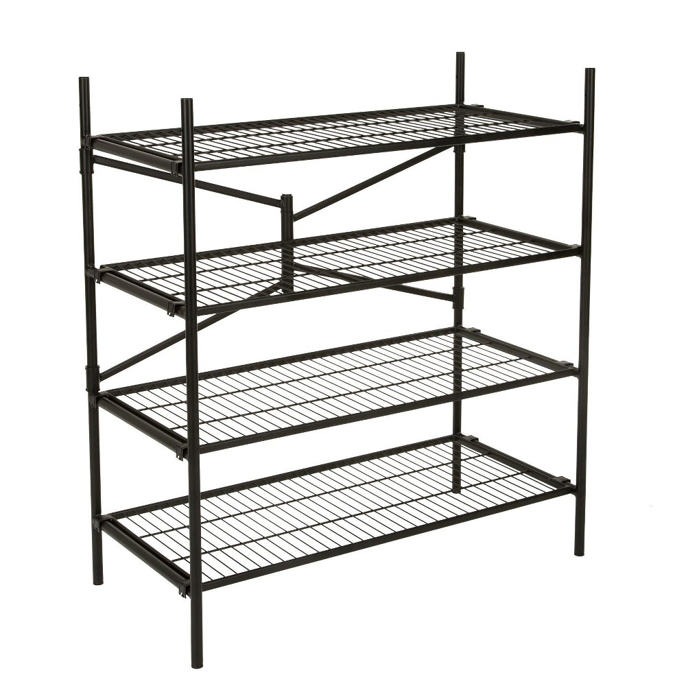 Image of Cosco Garage 4 Shelf Storage Rack Black Products