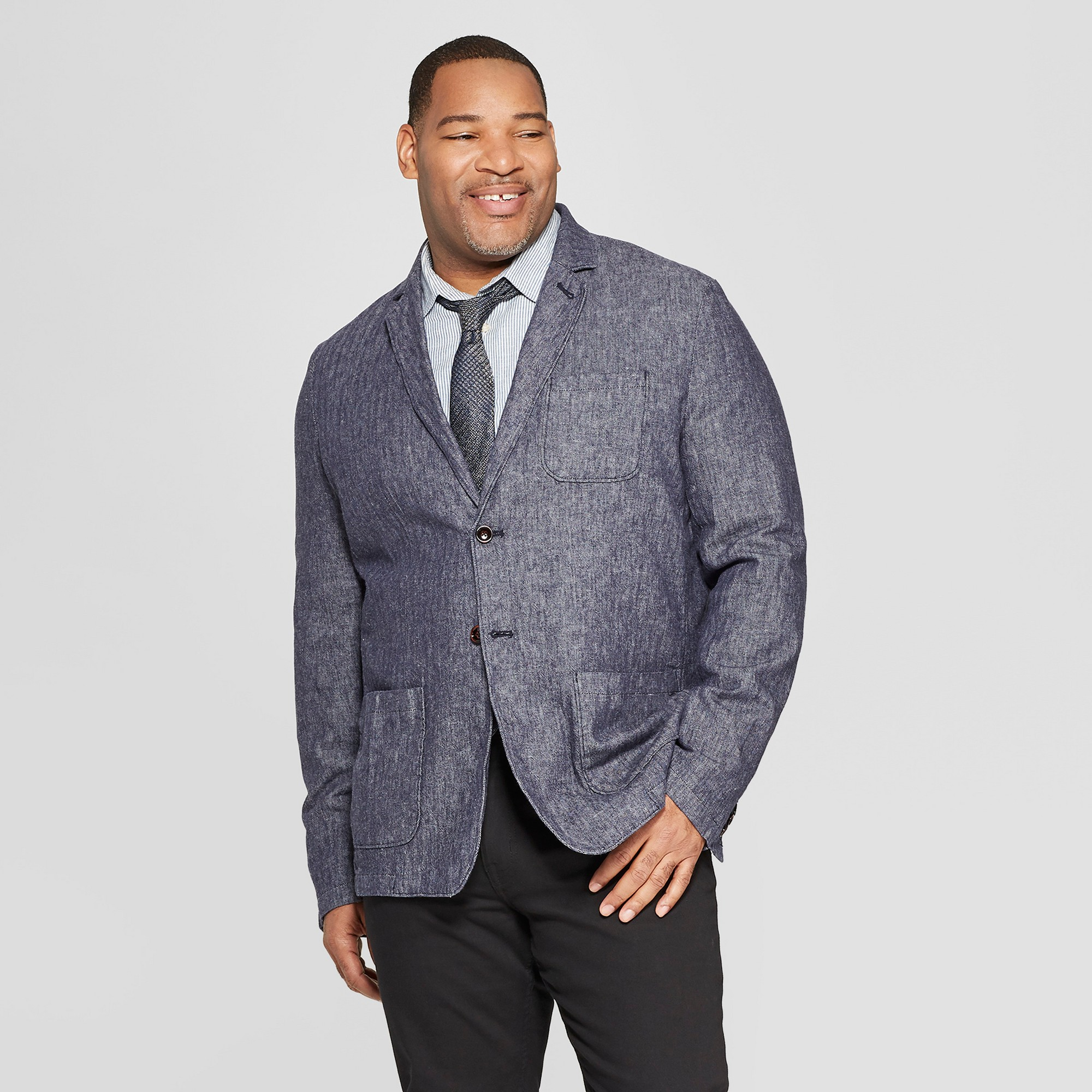 Men's Big & Tall Standard Fit Blazer - Goodfellow & Co Xavier Navy 5XBT