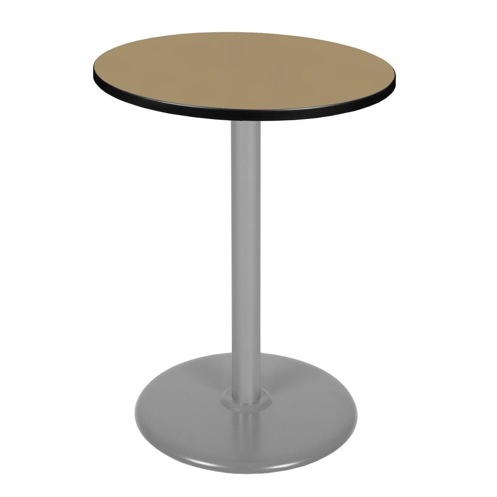 "Image of ""30"""" Via Cafe High Round Platter Base Table Gold/Gray - Regency"""