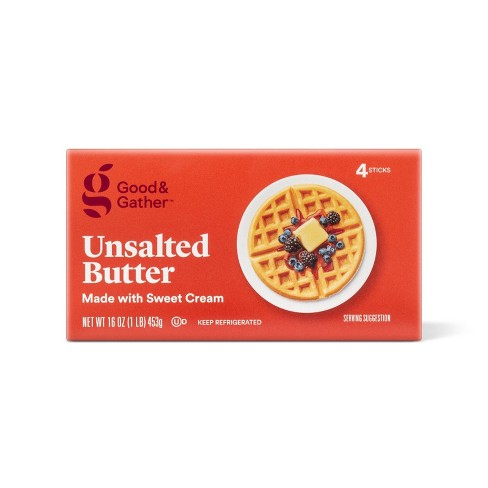 Unsalted Butter - 1lb - Good & Gather™ - image 1 of 2