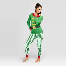 Women's Holiday Elf Pajama Set - Wondershop™ Green