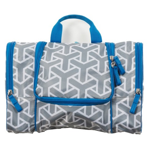 Flat Pack Toiletry Kit - Grey/Blue - image 1 of 4