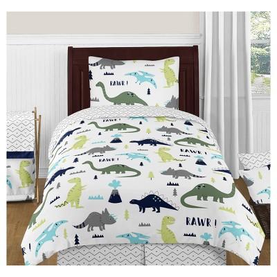 Blue & Green Mod Dinosaur Comforter Set (Twin) - Sweet Jojo Designs