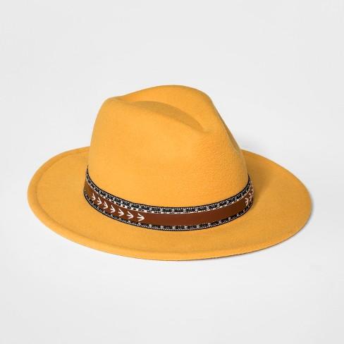 Girls  Faux Felt Panama Hat - Art Class™ Yellow   Target ae0c157fe2f