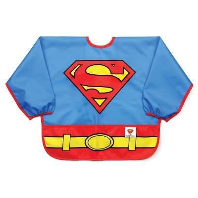 Bumkins DC Comics Costume Sleeved Superman Bib - Blue