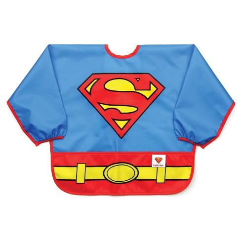 Bumkins DC Comics Costume Sleeved Superman Bib - Blue - image 1 of 4