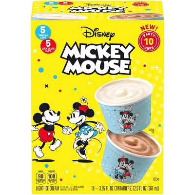 Disney Mickey Mouse Vanilla & Chocolate Ice Cream Party Cups - 32.5oz/10ct
