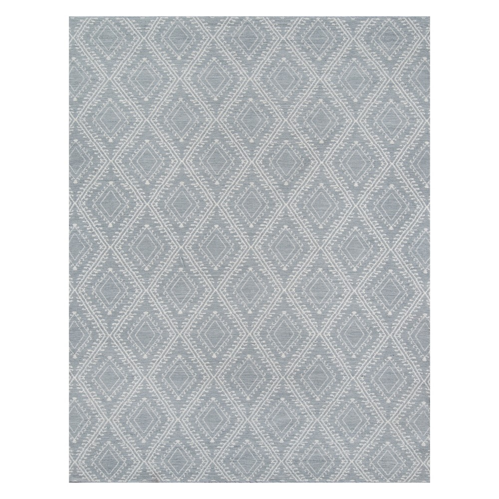 5'X7'6 Geometric Area Rug Gray - Erin Gates By Momeni