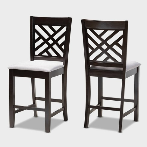 Caron Finished Wood Counter Height Pub Chairs - Set of 2- Baxton Studio - image 1 of 7