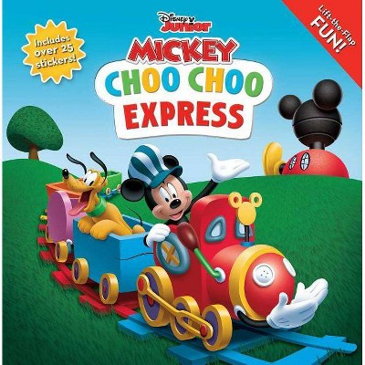 Disney Mickey Mouse Clubhouse: Choo Choo Express Lift-The-Flap - (8x8 with Flaps) (Paperback)