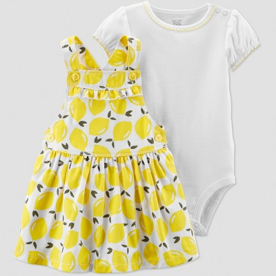 Baby Girls' 2pc Lemons Skirtall Set - Just One You® made by carter's Yellow/White Newborn