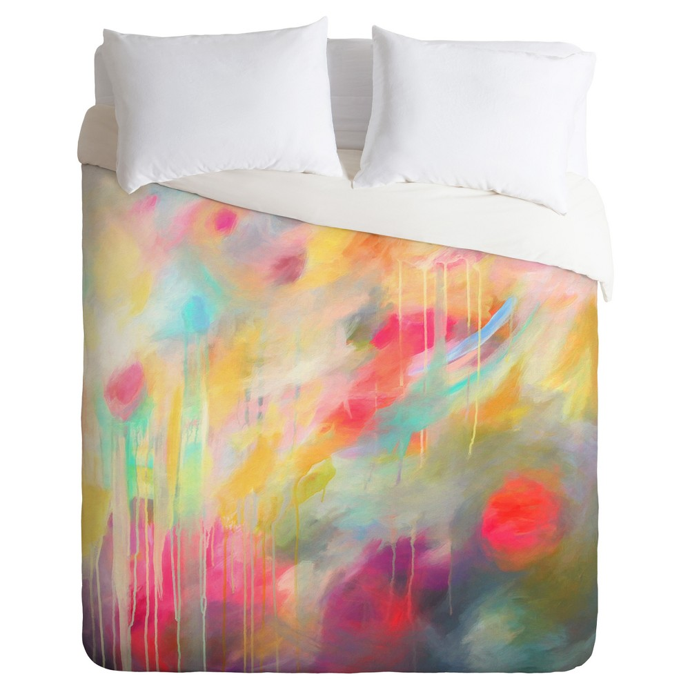 Yellow Stephanie Corfee Lost N Found Duvet Cover Set (Twin) - Deny Designs