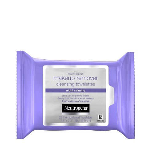 Neutrogena Makeup Remover Night Calming Cleansing Towelettes - 25ct - image 1 of 4