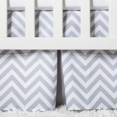 Crib Skirt Pleated - Cloud Island™ - Gray