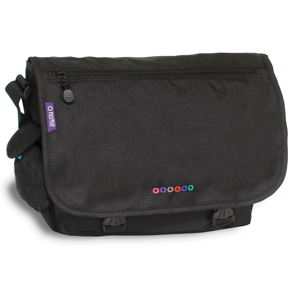 J World Terry Messenger Bag- Black