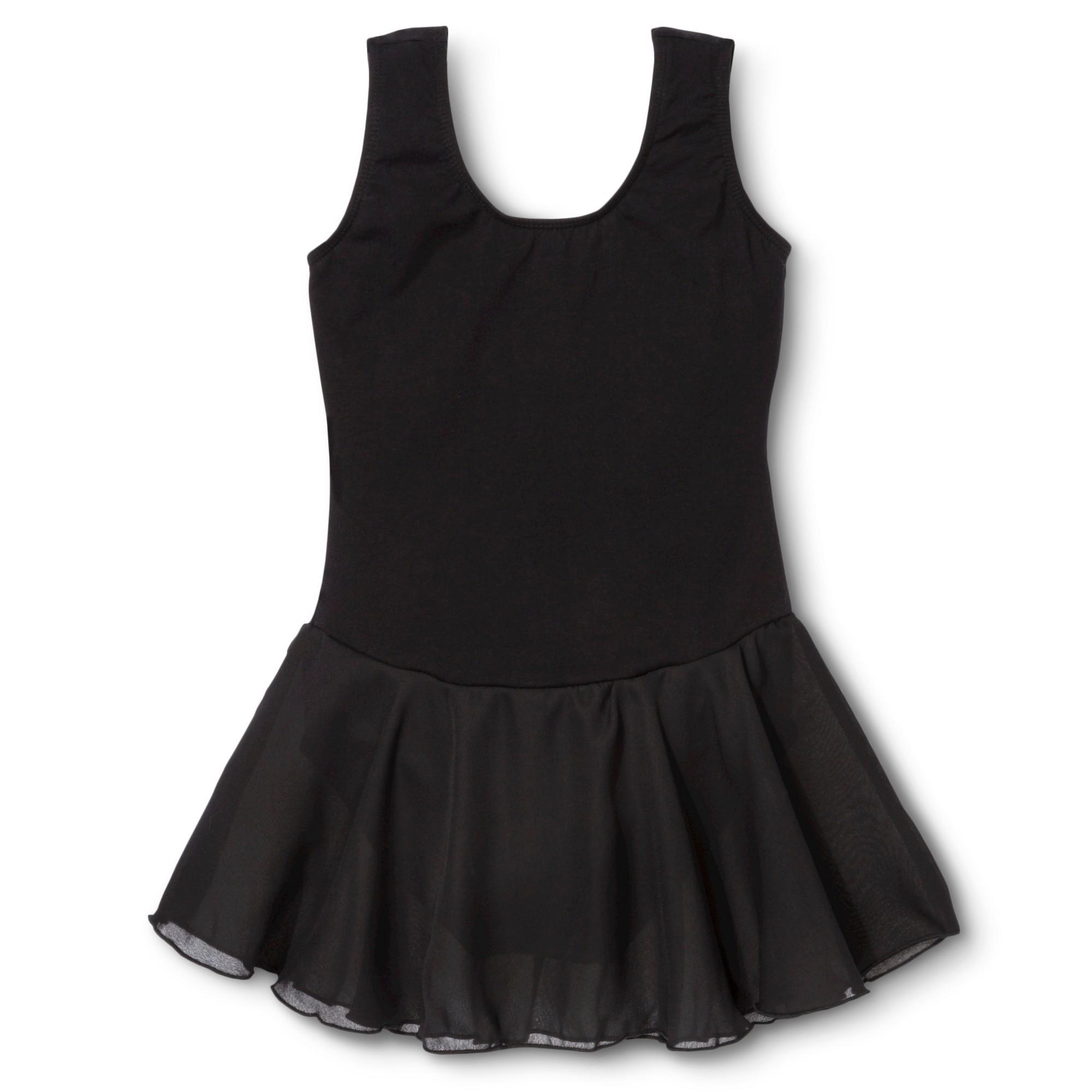 Danz N Motion Girls' Activewear Leotard Dress - Black 12-14
