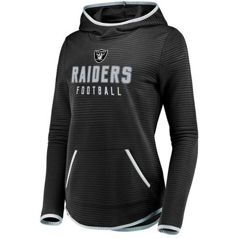 NFL Oakland Raiders Women s Linear Hood Black Scuba Neck Hoodie 839bf4822