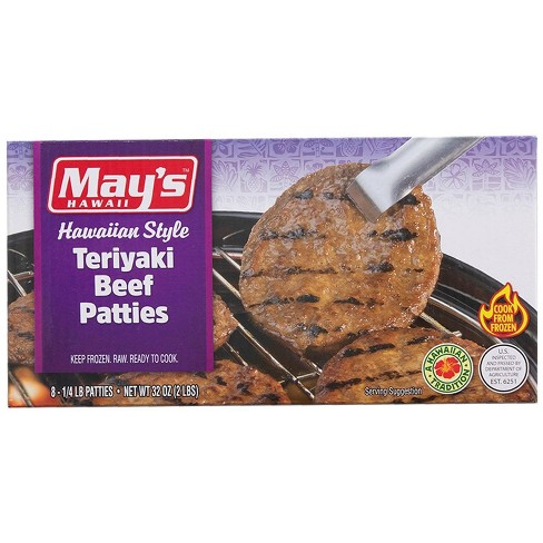 May's Hawaiian Style Teriyaki Beef Patties - Frozen - 32oz/8ct - image 1 of 4