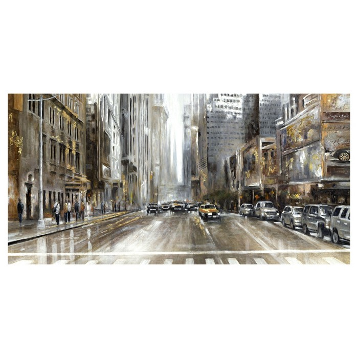 "24""x48"" Rush Hour Panel By Emily Williams Art On Canvas - Fine Art Canvas - image 1 of 4"