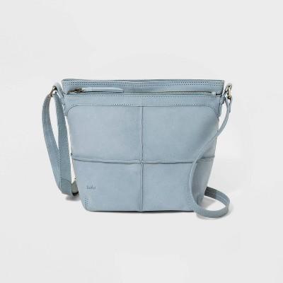 Bolo Zip Closure Broomfield Crossbody Bag - Gray