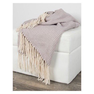 Crosshatch Throw Blankets Gray - Rizzy Home