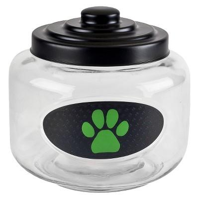 Housewares International AKC Embossed Green Paw Treat Jar - 108 oz.