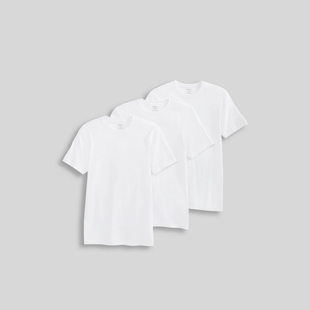 Image of Jockey Generation Men's Stay New Cotton 3pk Crew T-Shirt - White M, Size: Medium