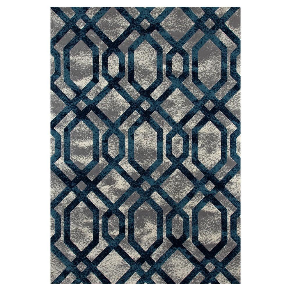 Gray Abstract Woven Area Rug - (5'X8') - Art Carpet