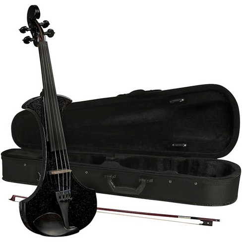 Cremona SV-180BKE Premier Student Electric Violin Outfit 4/4 Metallic Black - image 1 of 3